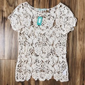 Maurices Cotton Lace Over Top Layering Tee